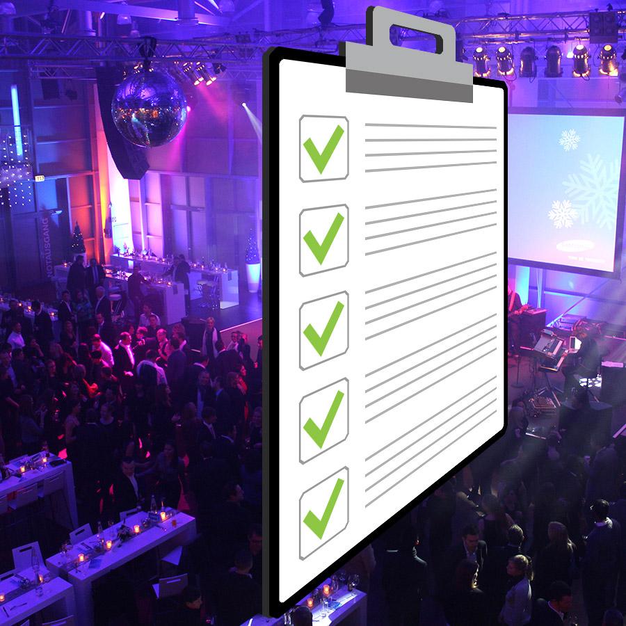 Laden Sie sich hier eine Checkliste für Ihre Eventplanung herunter
